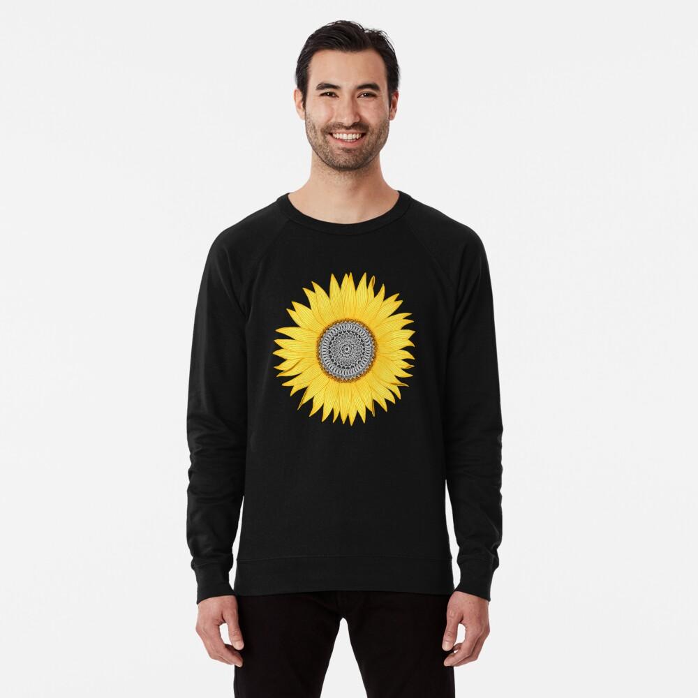 Mandala Sunflower Lightweight Sweatshirt