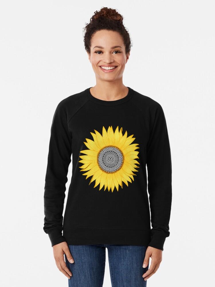Alternate view of Mandala Sunflower Lightweight Sweatshirt