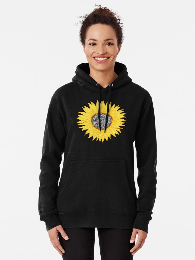 Alternative Ansicht von Mandala-Sonnenblume Hoodie