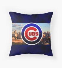 Chicago Cubs Baseball Throw Pillow