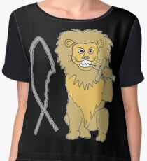 feed them to the lions Chiffon Top