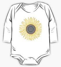 Golden Mandala Sunflower One Piece - Long Sleeve