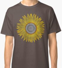 Golden Mandala Sunflower Classic T-Shirt