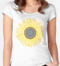 Golden Mandala Sunflower Women's Fitted Scoop T-Shirt