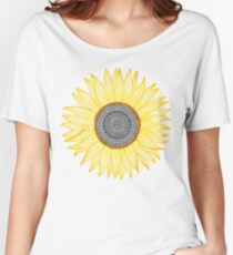 Tournesol d'or Mandala T-shirts coupe relax