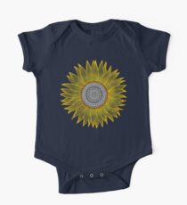 Golden Mandala Sunflower One Piece - Short Sleeve
