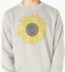 Goldene Mandala-Sonnenblume Sweatshirt