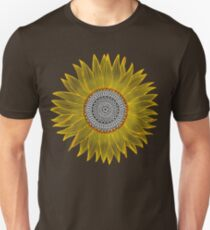 Golden Mandala Sunflower Unisex T-Shirt