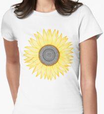 Camiseta entallada Golden Mandala Sunflower
