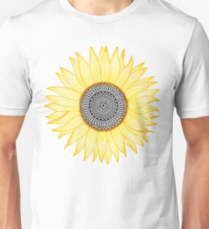 Golden Mandala Sunflower Unisex T-Shirt