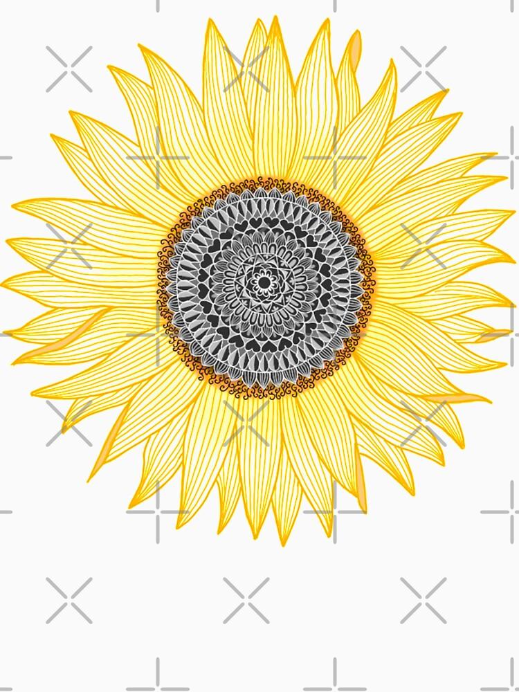 Goldene Mandala Sonnenblume von paviash