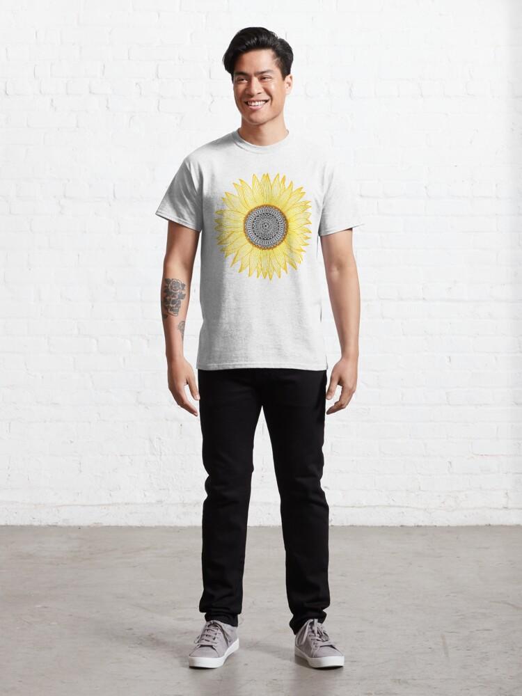 Alternative Ansicht von Goldene Mandala Sonnenblume Classic T-Shirt