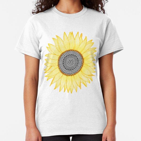 Goldene Mandala Sonnenblume Classic T-Shirt