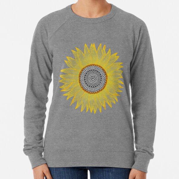 Golden Mandala Sunflower Lightweight Sweatshirt