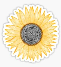 Golden Mandala Sunflower Sticker
