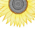 « Golden Mandala Sunflower » par paviash