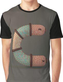 Snuggle Font: Letter C Graphic T-Shirt
