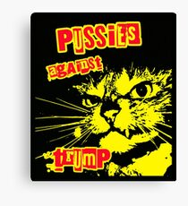 Meow Pussies against Trump Canvas Print