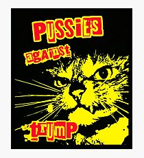 Meow Pussies against Trump Photographic Print