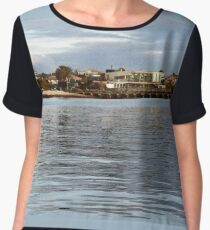 Brighton Coastal View - airbrush & ink Chiffon Top