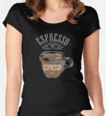 Espresso Coffee Women's Fitted Scoop T-Shirt