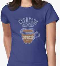 Espresso Coffee Womens Fitted T-Shirt