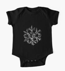 Snowflake vector - Gardener's dream black version One Piece - Short Sleeve