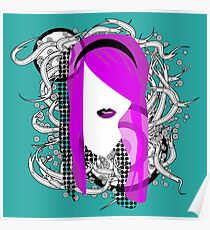 Emo Girl Graphic Poster