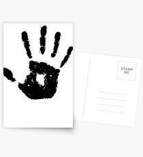 The Elder Scrolls - Dark Brotherhood Symbol (Black) Postcards