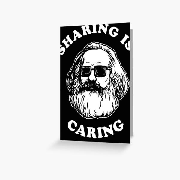 Sharing Is Caring Classic . Greeting Card