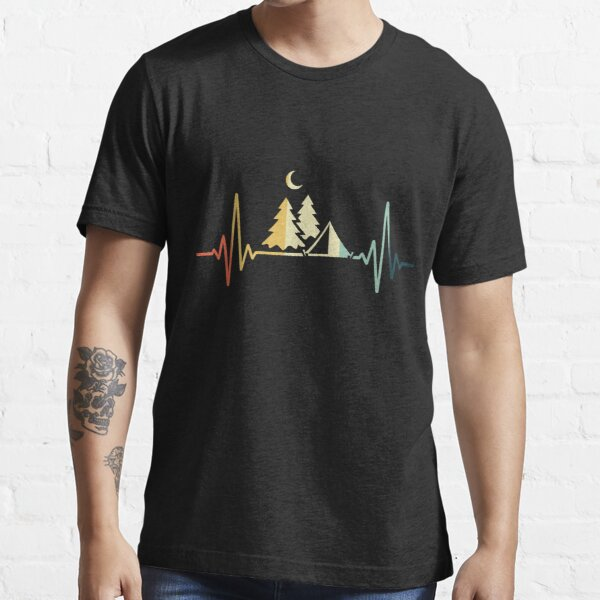 Camping Heartbeat Vintage, Camping Heartbeat , Camping Vintage Essential T-Shirt