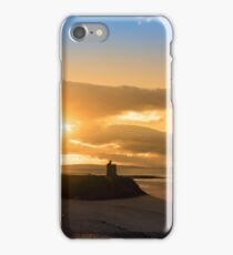 yellow sunshine over the Ballybunion beach and castle iPhone Case/Skin