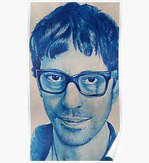 Graham Coxon Watercolour Portrait Poster