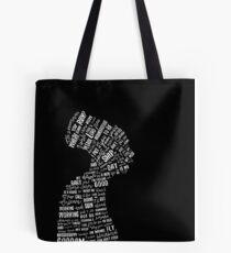 Nina Simone Lyrics Silhouette with black background Tote Bag