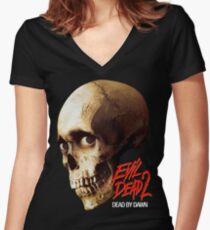 EVIL DEAD 2 Women's Fitted V-Neck T-Shirt