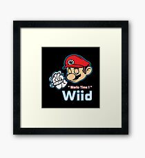 Mario - Mario Time ! Red Variant Framed Print