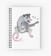 Possum playing a banjo Spiral Notebook