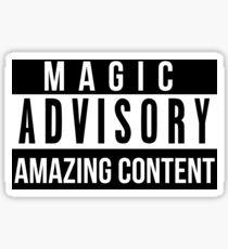 Magic Advisory Sticker