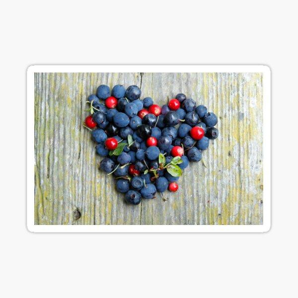 Blueberry heart Sticker