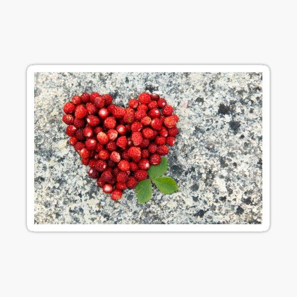Strawberry heart Sticker