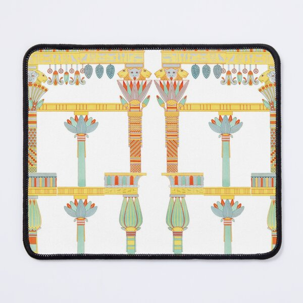 Illustration of Egyptian Columns Mouse Pad