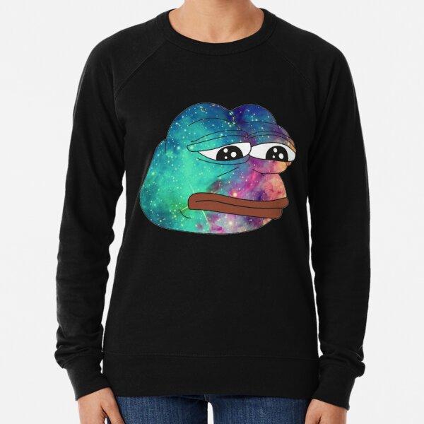 Dank Spicy Pepe Galaxy Lightweight Sweatshirt