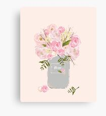 Floral Jar Pink Canvas Print