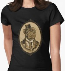 Vintage Pug Monster  Womens Fitted T-Shirt