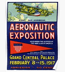 1917 Aviation Exposition Poster