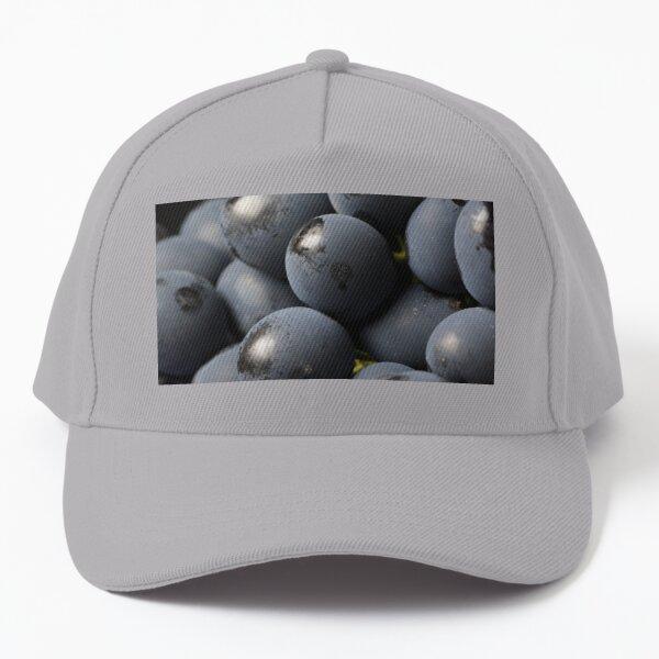 Bloom on black grapes Baseball Cap