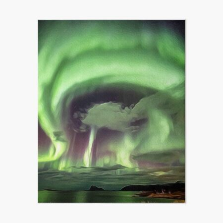 Solar Storm hits Tromso, Norway Art Board Print