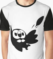 Rowlet Black Graphic T-Shirt