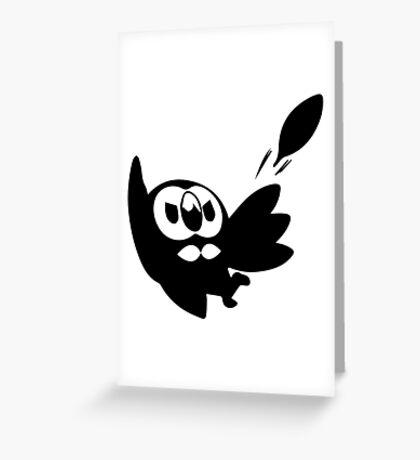 Rowlet Black Greeting Card