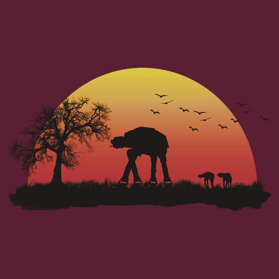 TShirtGifter presents: AT-AT. Left to roam free | Unisex T-Shirt